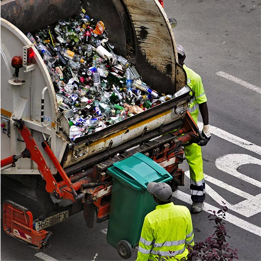 Trade waste collection service truck